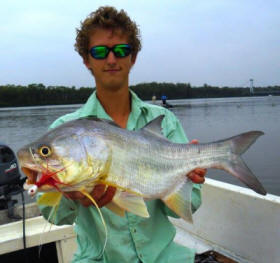 Christopher Caine with a threadfin