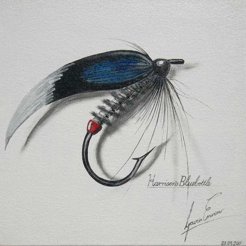 fly fishing drawing - photo #5