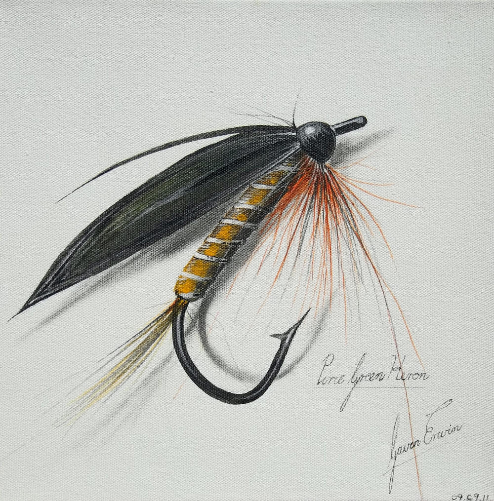 fly fishing drawing - photo #3
