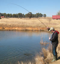 Reeling and hooking trout safely