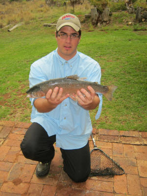 1.3kg Rainbow Trout caught at dullstroom