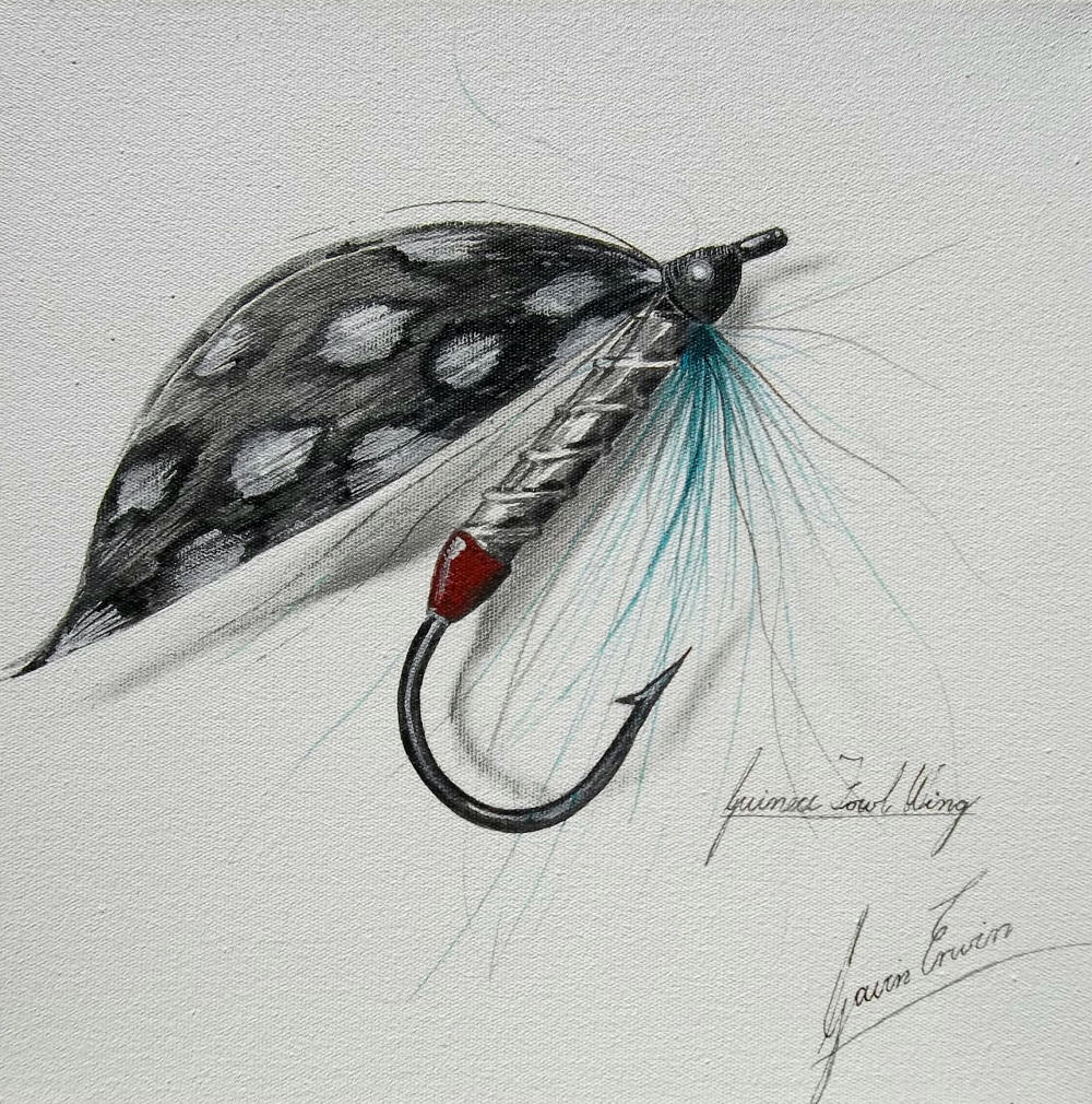 fly fishing drawing - photo #10